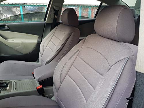 Sitzbezüge K-Maniac für BMW 5er E39 | Universal grau | Autositzbezüge Set Komplett | Autozubehör Innenraum | NO2421017 | Kfz Tuning | Sitzbezug | Sitzschoner
