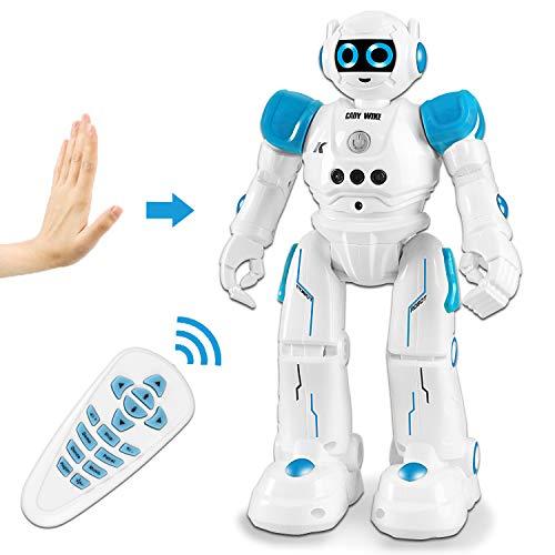 HBUDS Fernbedienung Roboter Spielzeug, Gestische Steuerung RC Roboter für Kinder, Programmierbare Wiederaufladbare Robotik Singen Tanzen Gehen Jungen Mädchen Kinder