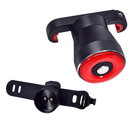Lesrly-Cycle Smart Bike Rücklicht Bremsenerkennung, USB wiederaufladbare wasserdichte ultrahelle Fahrrad-Rücklichter, einfache Montage zum Radfahren,2typesbracket