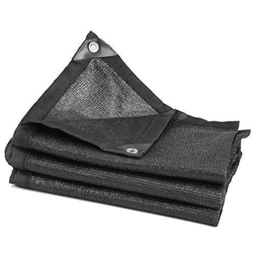 Cabilock Protector Solar Protector de Tela Malla de Malla Sombra de Corte Borde Resistente a Los Rayos UV para Cobertura Vegetal Invernadero Establo O Perrera (Tamaño Negro)