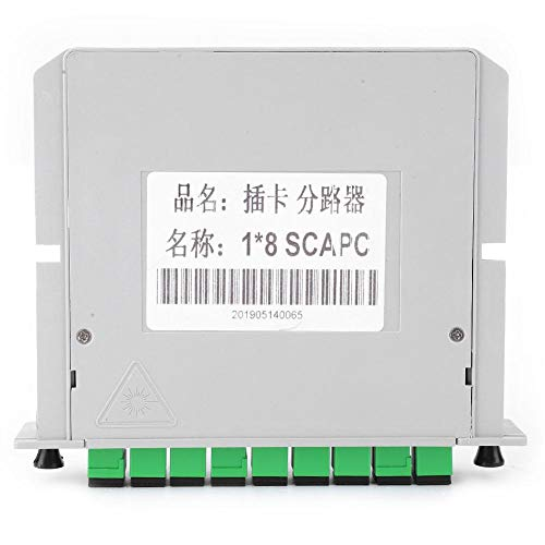 PLC Divisores de Fibra Óptica Óptica Tipo de Inserción de Cuchilla Modo Único 1x8 Interfaz Sc-Apc Cableado del Hogar Divisor de Chips Proyecto LAN óptica