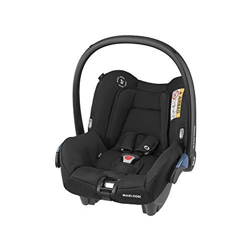 Maxi-Cosi Citi, Silla Auto Grupo 0+, Silla coche bebé portátil, bebé recién nacido hasta 12 meses, Color essential black ⭐