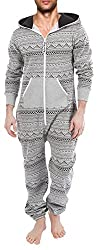 Men's Unisex Onesie Jumpsuit One Piece Non Footed Pajama Playsuit