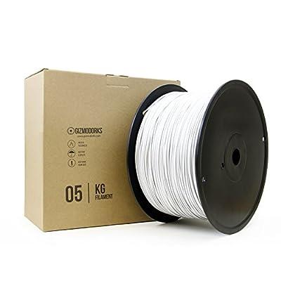 Gizmo Dorks ABS Filament for 3D Printers 1.75mm 5kg, White