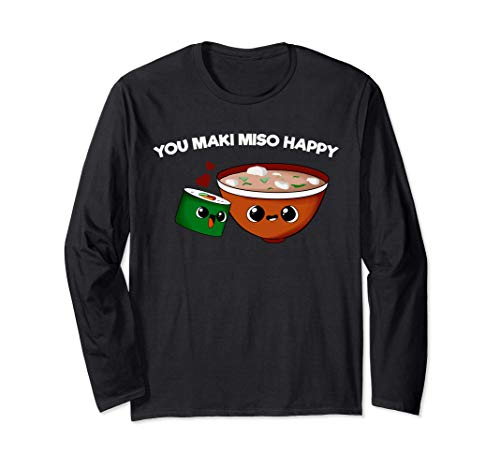 You Maki Miso Happy | Kawaii Japan Sushi Langarmshirt