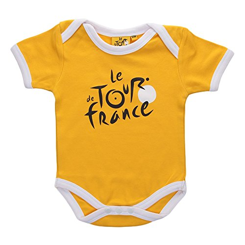 Tour de France tdf-sb-3068J 03M Body Bebé Niño 0–24M, Amarillo, FR: 3m (Talla Fabricante: 3m)