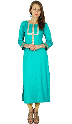 Phagun diseñador Indio de Bollywood Kurta Mujeres étnico Kurti Vestido de la túnica Ocasional