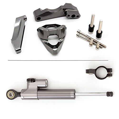 Estabilizador del amortiguador de dirección ajustable de la motocicleta con soporte de...