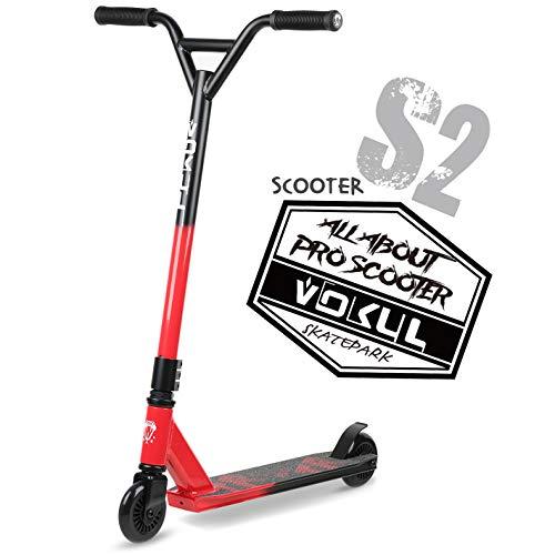 VOKUL TRII S2 Pro Stunt Scooter - Freestyle Tricks Stuntscooter Roller mit 100mm Rädern - mit 360 Grad schwenkbare Chromoly Lenker für 8+ Kinder & Erwachsene Trickscooter