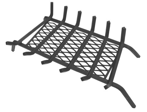 Landmann USA 97306 1/2' Steel Fireplace Grate with Ember Retainer, 30', 6 Bars