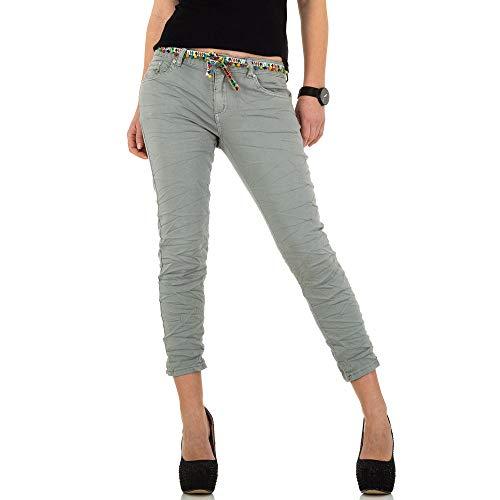 Ital-Design Low Skinny Jeans Place du Jour Gr. 36 Grau