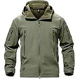 TACVASEN メンズ ジャケット 大きいサイズ 冬アウター フリース ジャケット 登山 防寒シャケット 大きいサイズ 保温 撥水 OD 3XL