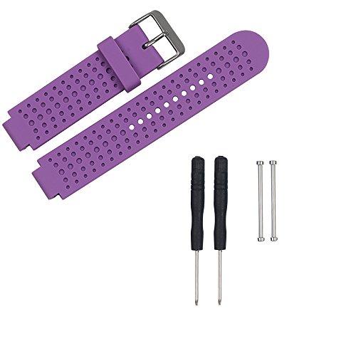 Reloj de pulsera de recambio de silicona Garmin Bandas Pinhen 220 230 235 630 620 735 para Garmin Forerunner con kit de herramientas para Garmin Forerunner 235 620 735XT 220