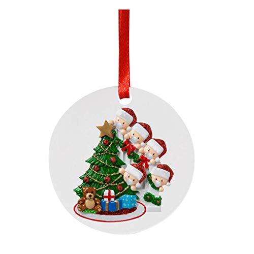 Mirlise Cute Ornaments Wearing_mask Decoration Christmas Tree 2020 Christmas Holiday Souvenir
