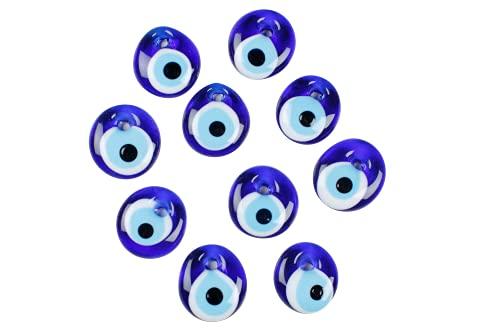 nevfactory Nazar Boncuk - Ojos turcos de cristal (2,5 cm, 10 unidades), color azul