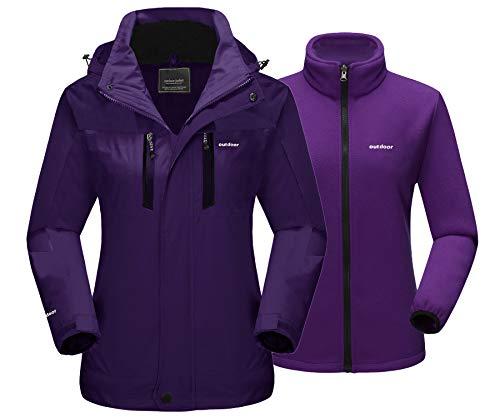 TACVASEN 3 in 1 Ladies Coat Waterproof Ski Snow Jacket Women Winter Thermal...