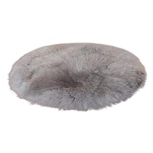 Ronde zachte faux fur vloer tapijt, hoogpolig tapijt, zachte pluizige stoelbekleding, namaakbont, Seat, slaapkamer, sofa, tapijt, licht grijs,