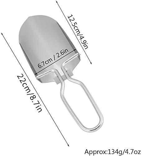 Garosa 多機能シャベル ハンドスコップ 1本入 園芸 アウトドア 折りたたみ 軽量 収納ポーチ付き ステンレス