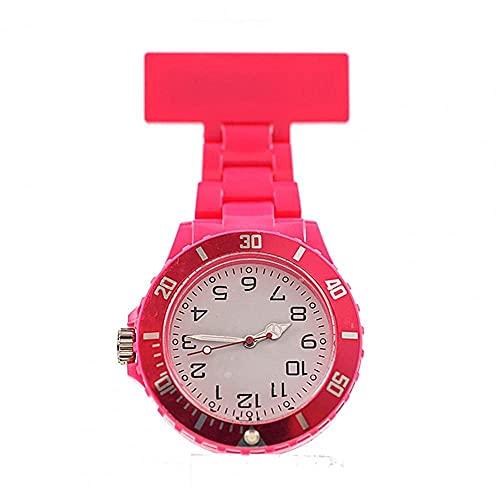 Esfera redonda colgante burster, colgante de cuarzo enfermera reloj de bolsillo colgante enfermera mesa enfermera cadena reloj negro