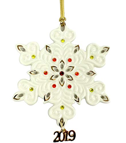 Lenox 2019 Annual Gemmed Snowflake Ornament