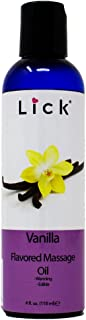 Vanilla Flavored Massage Oil for Massage Therapy - Relaxing Muscle Massage for Men and Women with Natural Vitamin e Oil wi...