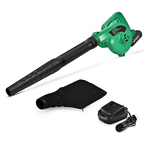 KIMO 20V Cordless Leaf Blower, 2-in-1 Battery Powered Blower & Vacuum, Variable Speed 20000 RPM Max, w/Extend Blow Tube, Handheld Mini Leaf Blower for Blowing Leaves/Snow/Debris/Dust