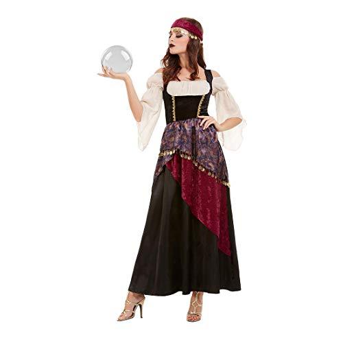 NET TOYS Bezauberndes Wahrsagerin-Kostüm - M (38/40) - Geheimnisvolles Damen-Outfit Zigeunerin - Wie geschaffen für Kostümfest & Karneval