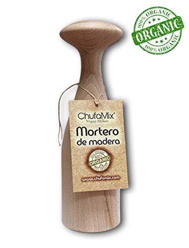 Vegan Milker Holzmörser, Ersatz by Chufamix. Funktioniert mit jeder Version des Gerätes. Holz aus zertifizierten, nachhaltigen Wäldern