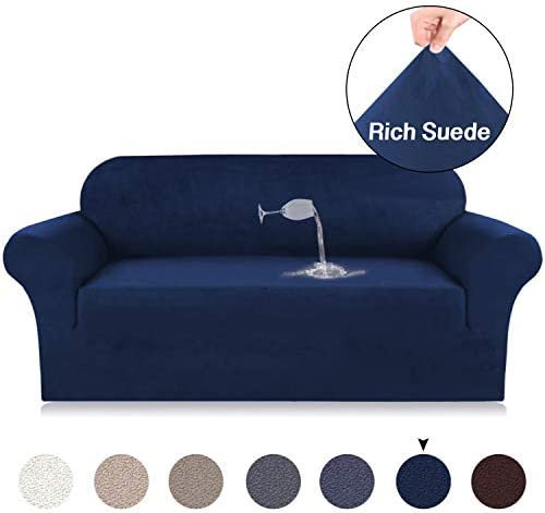 Best Turquoize Suede Sofa Cover Sofa Slipcover Water Repellent Sofa Lounge Covers for 4 Seat Sofa Cover S