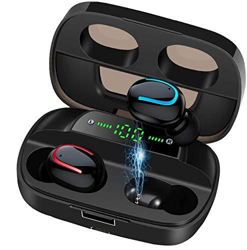 BIGFOX Bluetooth Kopfhörer In Ear,Bluetooth 5.0 in Ear kopfhörer mit Mikrofon,Kopfhörer Kabellos,Kabellose Kopfhörer,Hi-Fi Stereo Sound,Wasserdicht für iPhone/Sony/Huawei/Sumsung/Xiaomi