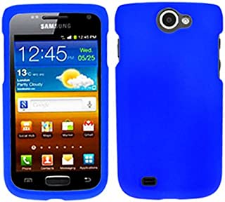 Blue Rubberized Faceplate Hard Crystal Skin Rubber Case Cover for Samsung Exhibit II 4g SGH-T679