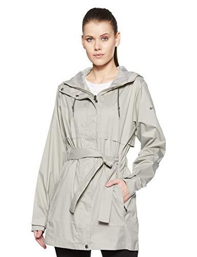 Columbia Women's Pardon My Trench Waterproof Rain Jacket, Flint Grey, 1X