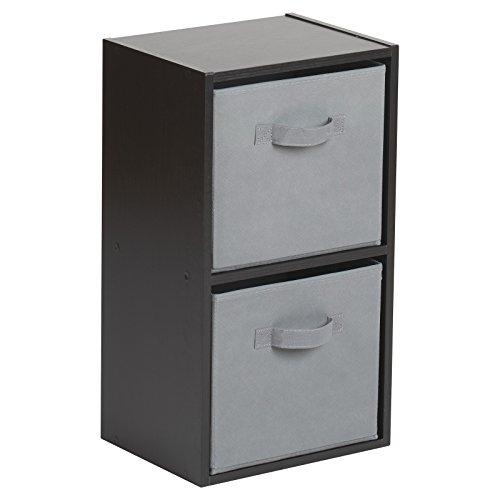 Hartleys Unité Cube Noir a 2 Niveaux – Gris