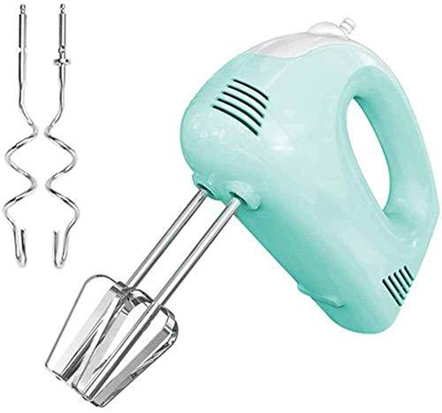 AJH Frullatore Elettrico Professionale 150W, Frusta elettrica per frullatore Elettrico da Cucina a 5 velocità Frusta elettrica con Ganci per Impasto per Cottura Crema, Blu
