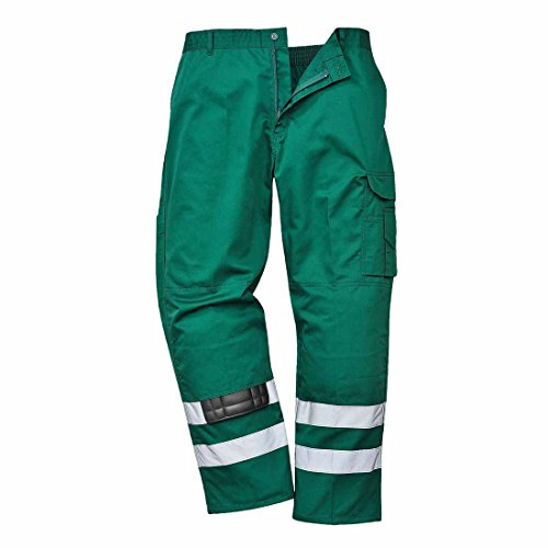 Portwest S917 – Pantalons de sécurité Iona, XL, Vert bouteille