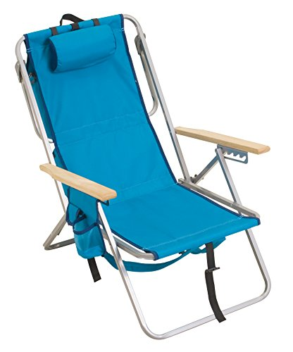 Rio Brands Gear 5 Position Steel Backpack Chair with Cooler, Aruba