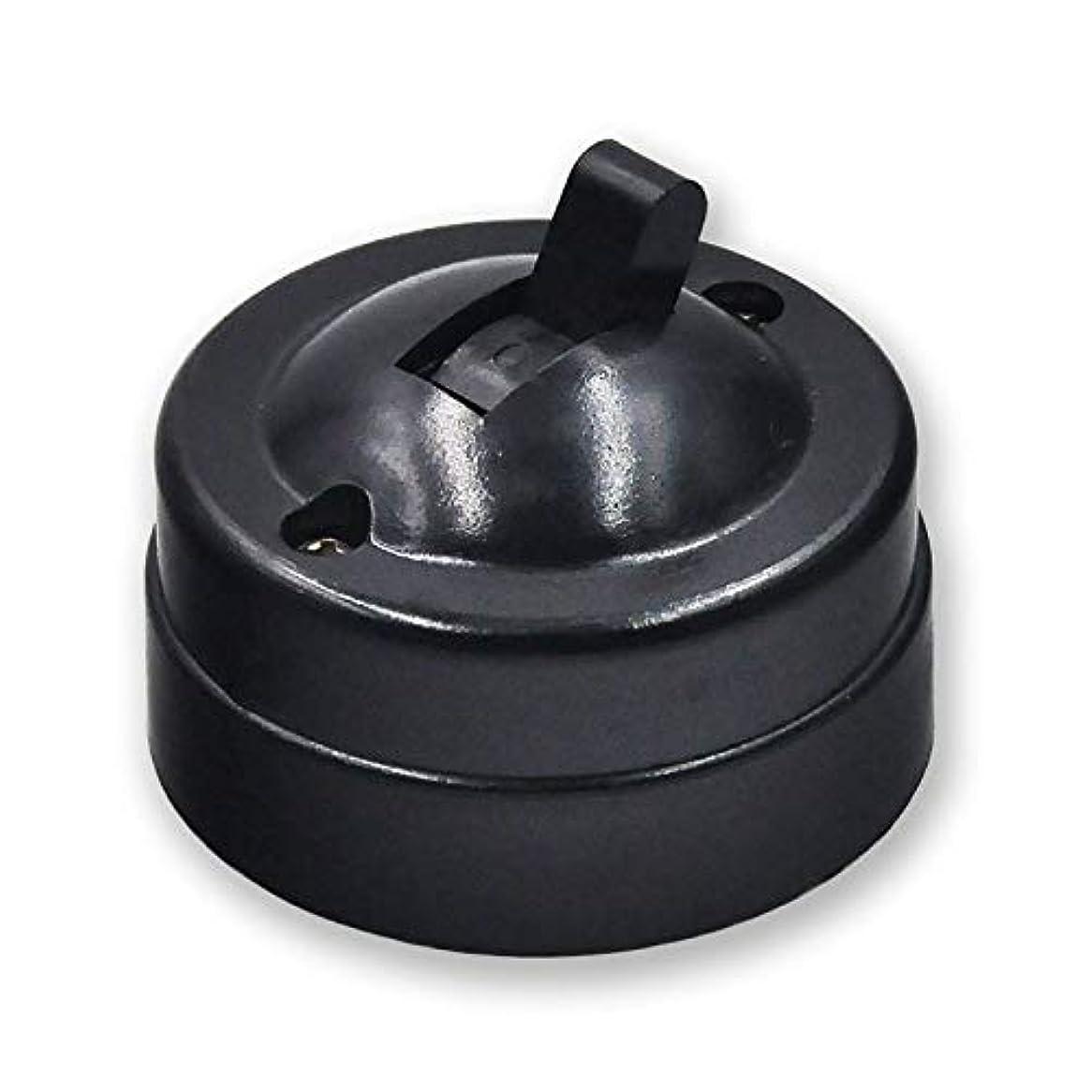 金額ほめる見物人10個入りレトロタイプウォールライトトグルスイッチテーブルランプのオン/オフは、ラウンドベークライトスイッチブラックホワイトブラウン6A250Vをマウント (Color : ブラック)