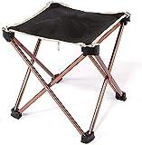 YGCBL Silla de camping portátil plegable de aleación de aluminio taburete plegable al aire libre taburete de playa portátil adecuado para cualquier lugar
