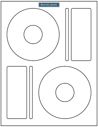 1000 CD/DVD Labels Blank Labels Brand fits Memorex Large Core Compatible. Economy Matte Labels. 2 Labels per Sheet Large Centers Only. Ink Jet & Laser Compatible