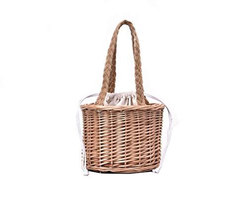 PAIZEP Bolso Mimbre bambú Estilo navideño, cestas