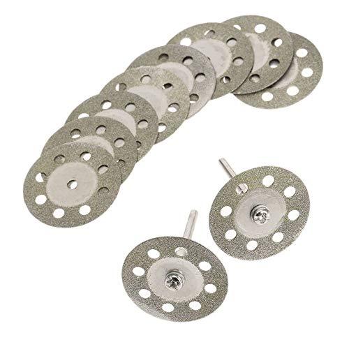 GFHDGTH 10 stks 30mm Diamant Cirkelzaag Snijden, SchijfDremel Accessoires Slijpschijf Schuurschijf voor Rotary Tool2 stks Doorn