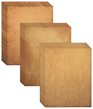 Aged Paper 48 Sheets of Antique Looking Old Fashion Faux Parchment Paper Letter Size 8.5 x 11 inch Double Sided Printing Paper by Better Office Products Vintage Old Fashioned Faux Parchment Paper