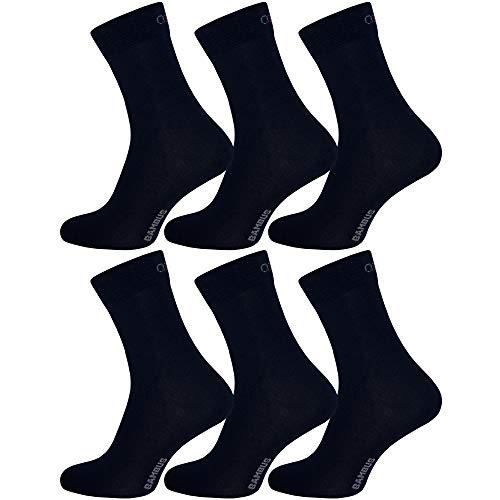 OCERA 6 Paar Bambus Socken (Unisex) für Damen & Herren in verschiedenen Farben - Blau 39/42