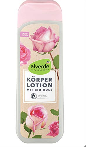 Alverde Körperlotion Bio- Rose- 1x 250 ml - vegan/ohne Microplastik