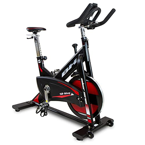 BH Fitness Bicicleta de Ciclo Indoor SB Mag con freno magnético, Volante de 20kgs y uso intensivo 🔥