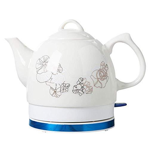 SCXY Tetera de hervidor inalámbrico de cerámica eléctrica, 1.0L, 1000W de Agua rápido para té, café, Sopa, Base removible de Avena, protección contra secas