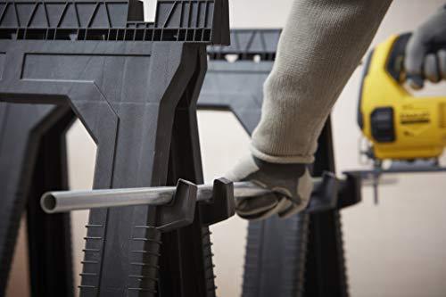 Stanley Unterstellbock (paarweise, flach zusammenlegbar, fester Stand, Gummi-Füße, 450 kg Belastbarkeit) STST1-70713 - 7