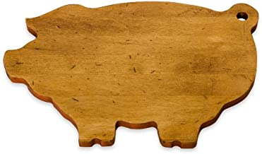 product image for J.K. Adams 14-Inch-by-9-Inch Maple Wood Cutting Board, Pig-Shaped