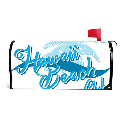 wendana Hawaii Beach Typography T Shirt Graphics Surf Mailbox Cover Magnetische Vinyl Thuis Tuin Decor Mailbox Wrap Post Letter Box Cover 18