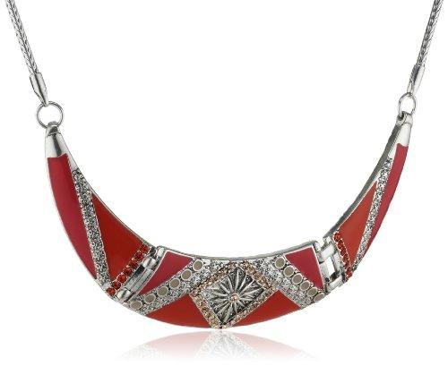 Pilgrim Jewelry Damen-Halskette mit Anhänger aus der Serie Vitality karma versilbert pink 191316311 (Länge 42 cm + 12 cm Verlängerung)